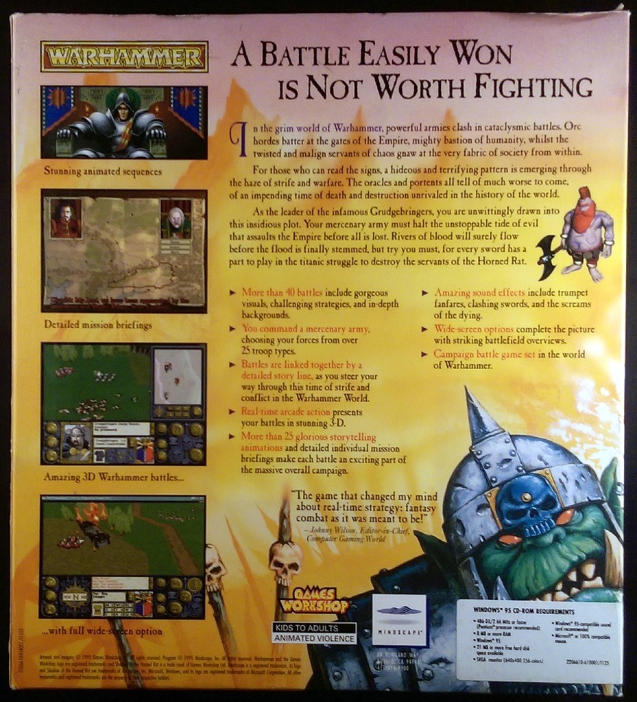 Details about Warhammer: Shadow of the Horned Rat (PC, 1995) - Complete in  Big Box